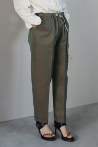 Turn Up Easy Pants (gabardine khaki)