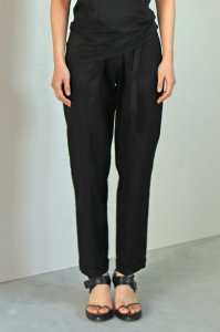 Turn Up Easy Pants (gabardine black)