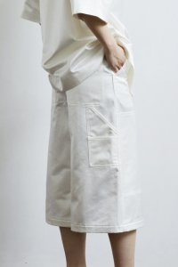 Painter Bermuda Pants (satin white)