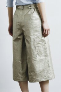 Painter Bermuda Pants (linen gold)