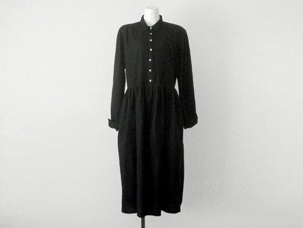 Black light wool  day dress