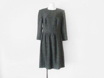 Gray wool tweed  classic dress