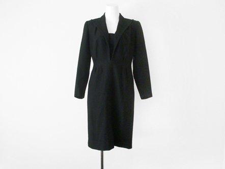 Black wool  sailor collar  masculine dress