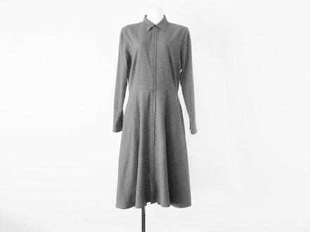 Ralph Lauren  Light Gray Wool  Shirt Dress