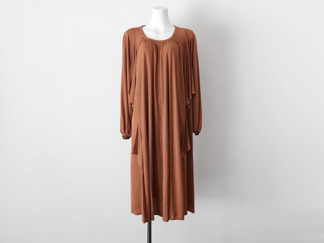 685c9b4971361 Bronze Gold Smooth Flare Venus Dress - trip vintage