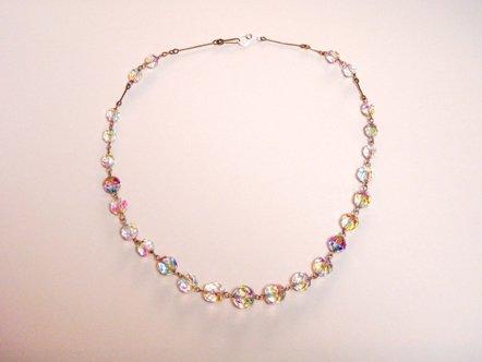 アイリスガラスの ネックレス ピンク