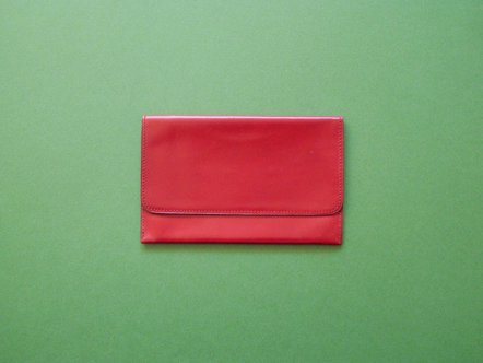 Hermes  Wine red leather  card case