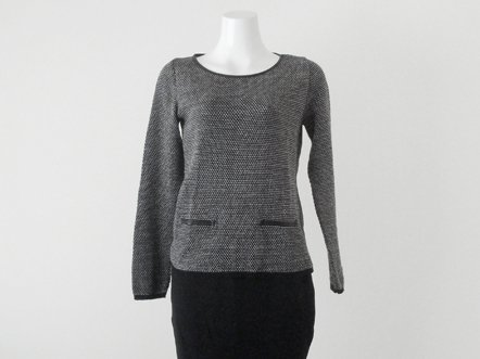 Gray・Black  back 3 bow top