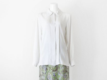 YSL  White silk blouse