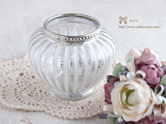 アンティークなガラスベース : 丸みのあるガラス花器 アンティーク