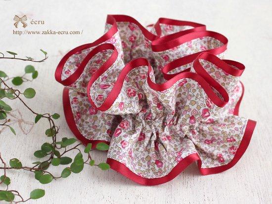 シュシュ [ ダブル ] : リバティ エロイーズeloise 赤ピンク系