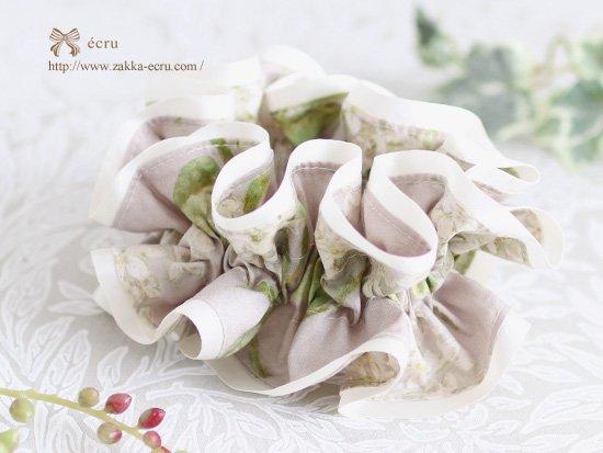 シュシュ [ ダブル ] :リバティ アーカイブ・ライラック Archive Lilac グレー