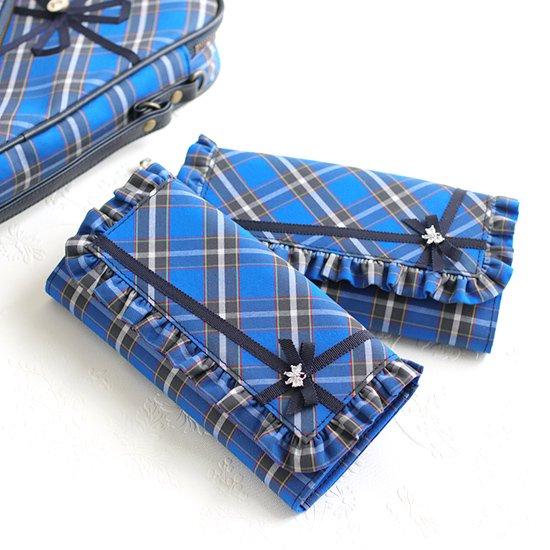 フリル長財布、ハート型スマホリング リ神戸タータン