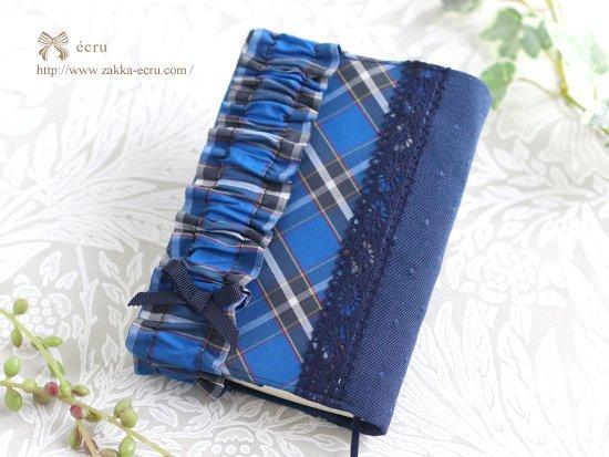 ブックカバー、手帳カバー、文庫本ノートカバー 神戸タータン