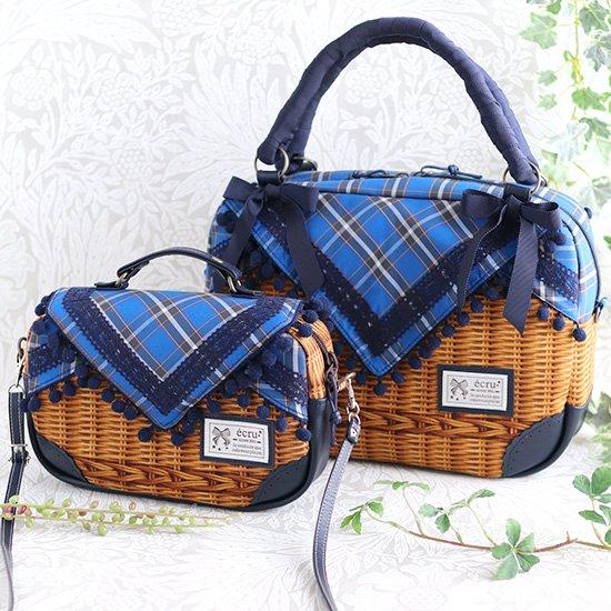 ソレイユバッグ バスケットバッグ リバティ 神戸タータン