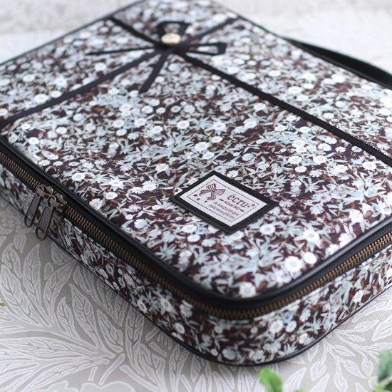 A4ブリーフバッグ パソコンバッグ:ラッピングリボンバッグ リバティプリント