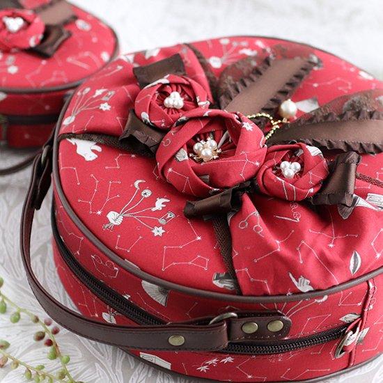 アリウムバッグ お花付きまん丸バッグ+ポーチ、マスクセット、フリルコンパクト財布、シュシュ リバティプリント