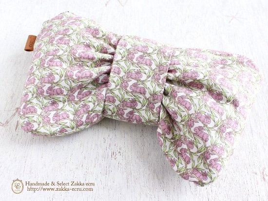リボン ペンケース ポーチ: リバティプリント コットンテイル Cottontail ピンク