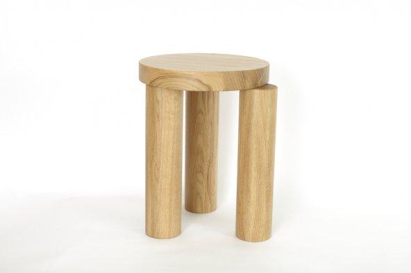 Offset stool (natural)