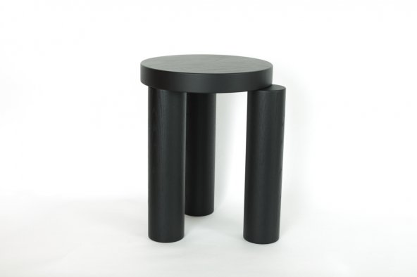 Offset stool (black)