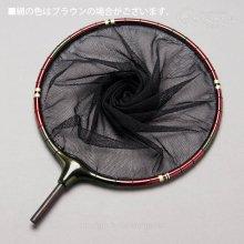 【かちどき】カーボン玉枠 2mm目網付(Mボルドー・尺サイズ)