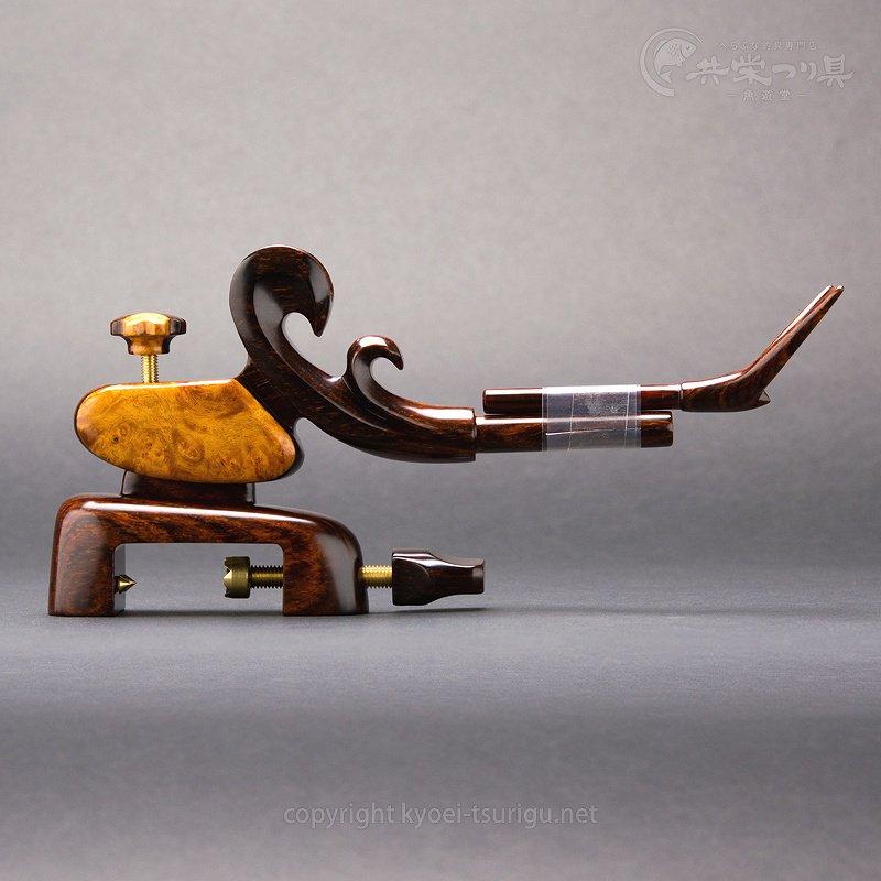 【夢釣工房】No.65 中型 南米紫檀+玉花梨 Aのサムネイル画像