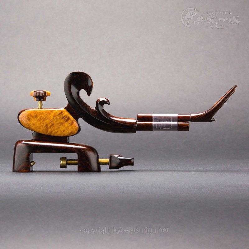 【夢釣工房】No.65 大型 南米紫檀+玉花梨のサムネイル画像