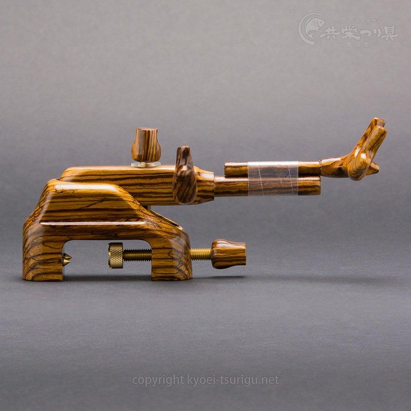 【岐山】ゼブラウッド 大砲型万力 No.43(小)【送料無料】のサムネイル画像