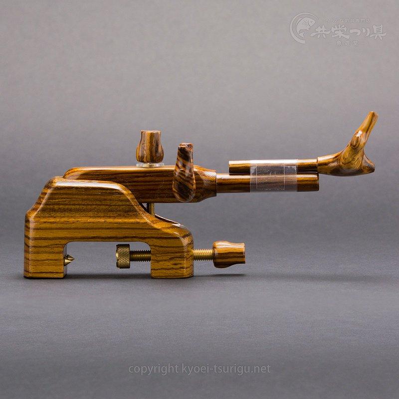 【岐山】ゼブラウッド 大砲型万力 No.45(中)【送料無料】のサムネイル画像