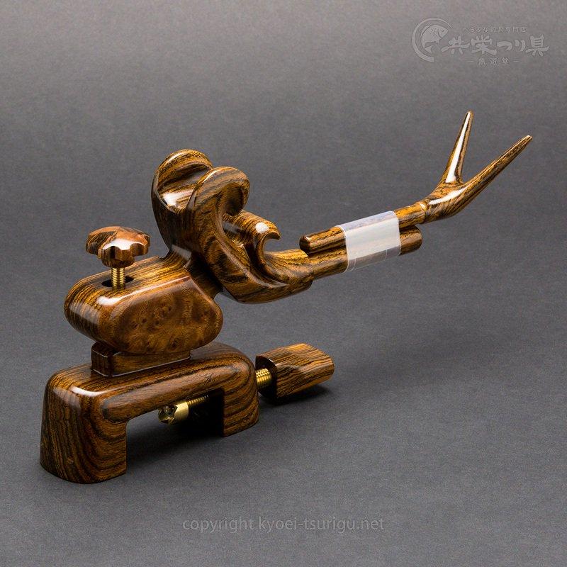 【夢釣工房】No.65 小型 黄金檀+玉花梨のサムネイル画像