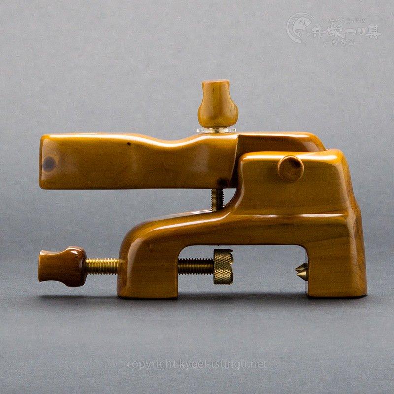 【竿春工房】山伏玉置台 濃紫紺(こいしこん) 大砲型万力【送料無料】のサムネイル画像