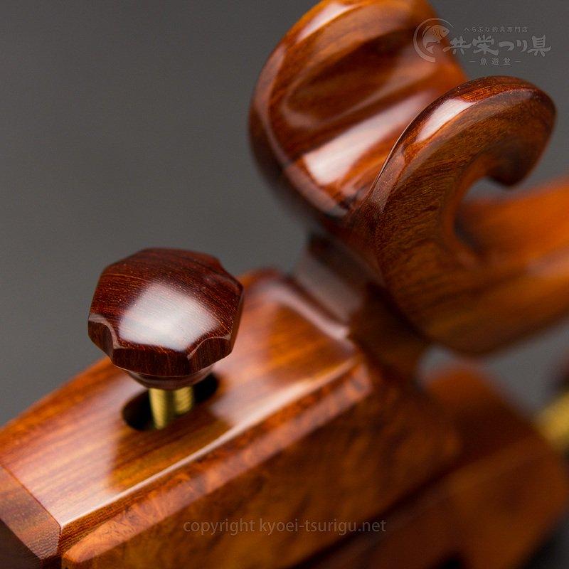 【夢釣工房】No.90 中型 紅紫檀+玉花梨のサムネイル画像