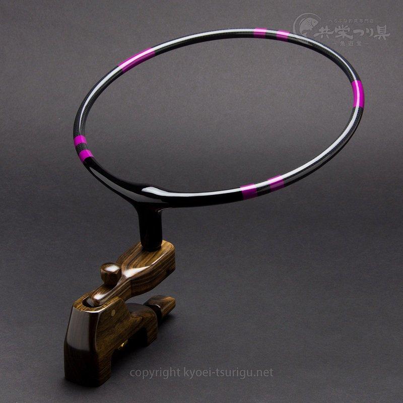 【かちどき】カーボン段巻玉置台(紫)黒檀大砲万力のサムネイル画像