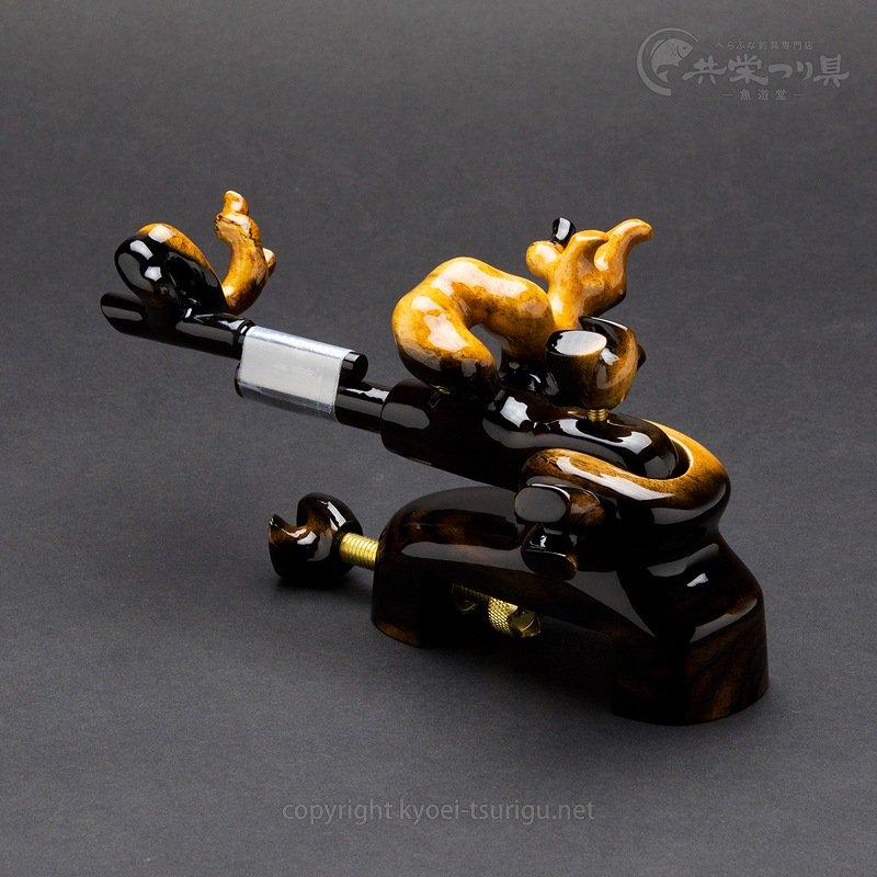 【承言-遊-】黒柿 中型大砲型万力 金印 No.22【送料無料】のサムネイル画像