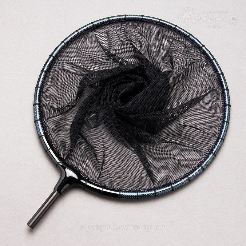 【かちどき】カーボン玉枠(カラーウーブン・ブルー)2mm目網付(尺サイズ)