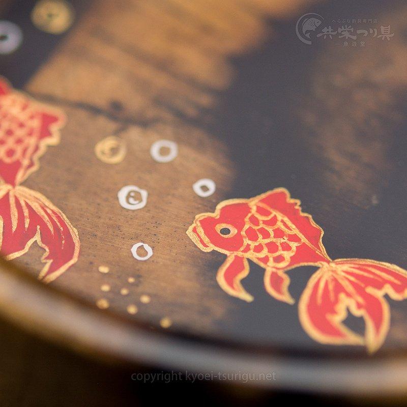 【忠相】クワセ皿 No.2(黒柿×黒柿・金魚2匹)のサムネイル画像