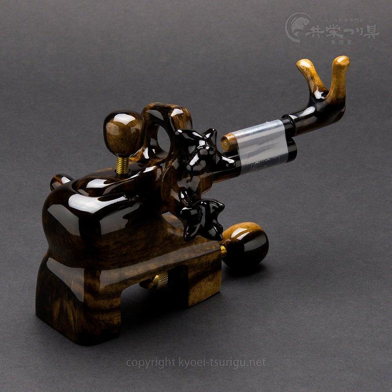 【楓作】黒柿 極小型大砲型万力 No.2【送料無料】のサムネイル画像