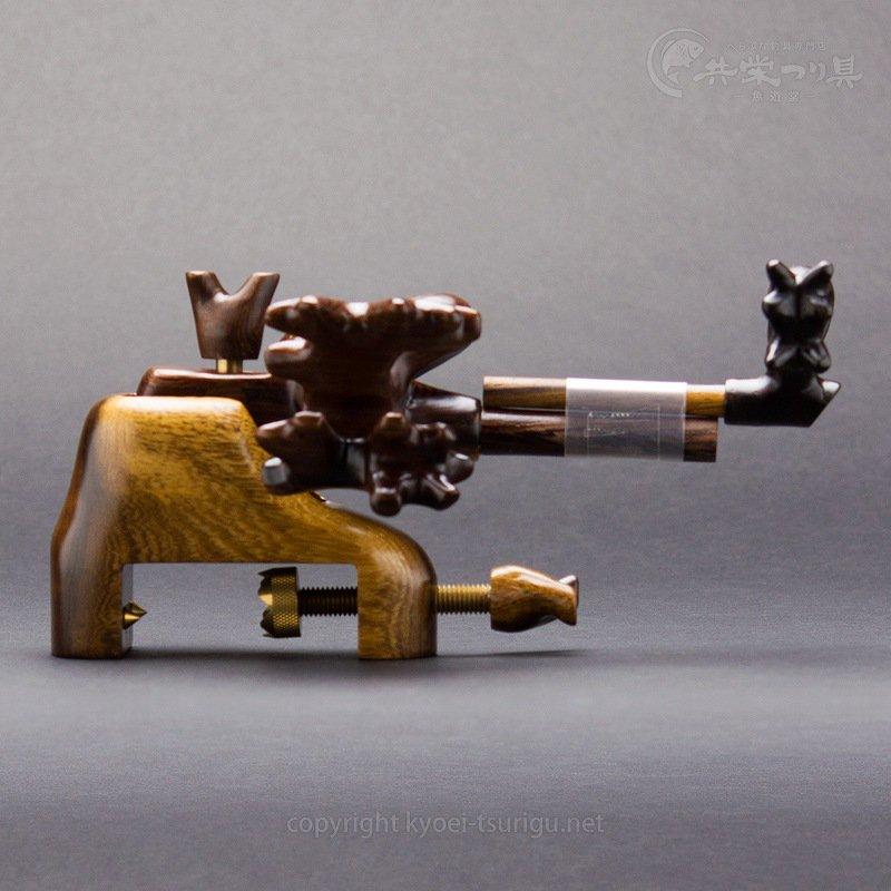 【かちどき】匠絆(しょうえん) ブビンガ 中型 大砲型万力 No.2【送料無料】のサムネイル画像