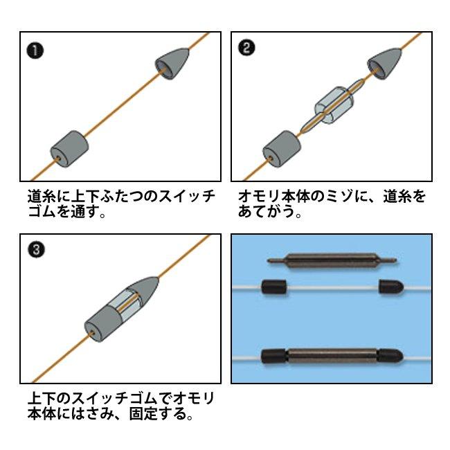 【マルキユー】 絡み止めスイッチシンカーのサムネイル画像