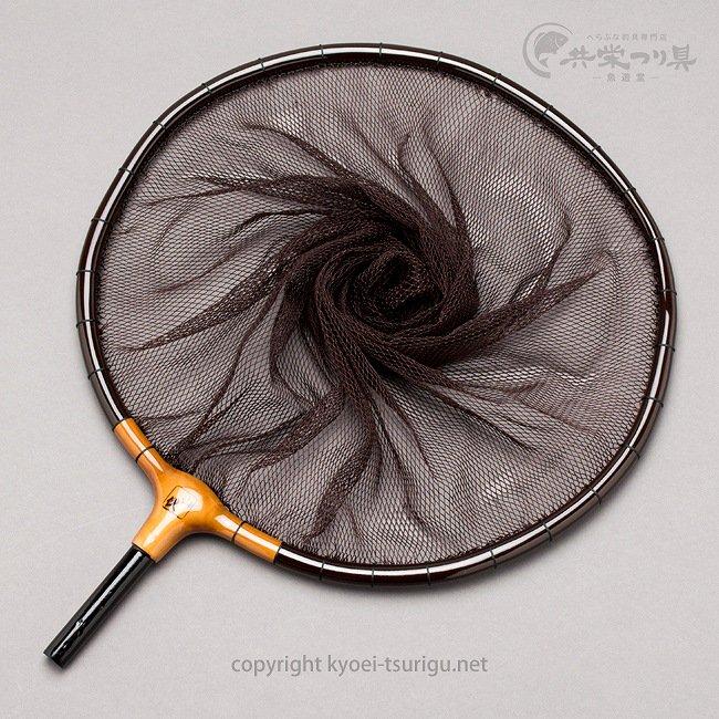 【竿春工房】山伏 網付天然玉枠(尺サイズ) 鉄黒(てつぐろ)