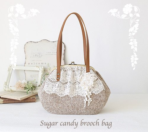 Suger candy brooch bag