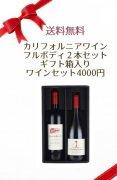 【送料無料】カリフォルニアワイン フルボディ2本セット ギフト箱入りワインセット4000円