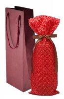 ハートラッピング(ハート柄&リボン&手提げ紙袋)