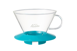 Kalita WAVE DRIPPER 185 PEPPERMINT GREEN (WAVE FILTER 185 WHITE 25枚付き)