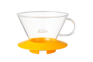 Kalita WAVE DRIPPER 185 MANGO YELLOW (WAVE FILTER 185 WHITE 25枚付き)