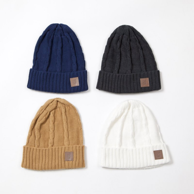 〈MASACA HAT〉CABLE KNIT CAP