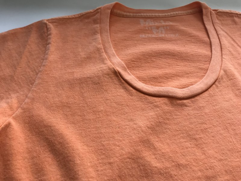 〈MIXTA〉PLAIN U-NECK T-SHIRT with POCKET