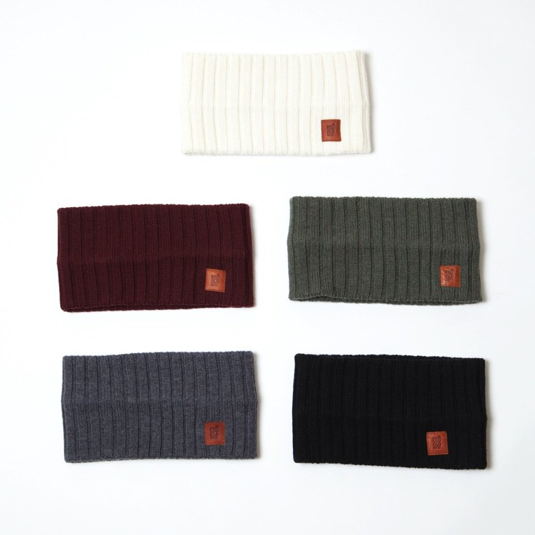 〈MASACA HAT〉WOOL RIBKNIT HAIR BAND