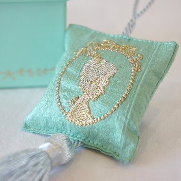 coussin tassel cameo turquoise