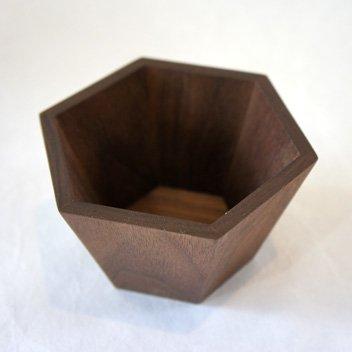 六角香炉 ウォールナット2